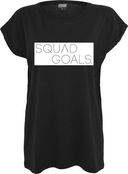 """SQUAD GOALS"" Ladies Extended Shoulder Tee"