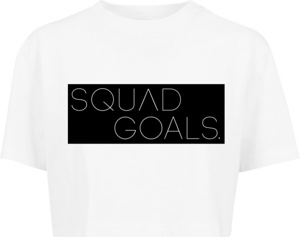 """SQUAD GOALS"" Ladies Short Oversized Tee"