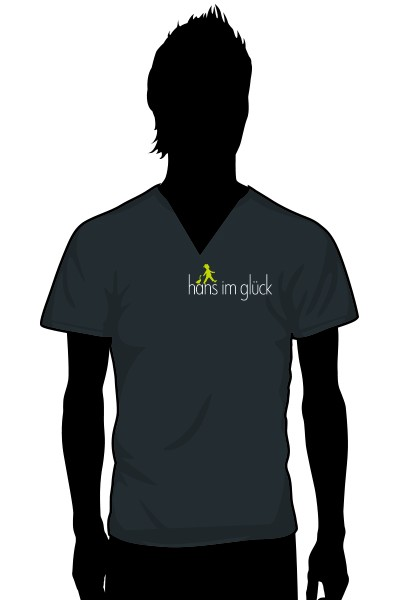 Kellner Shirt V-Neck Grosser Auschnitt Eng Geschnitten