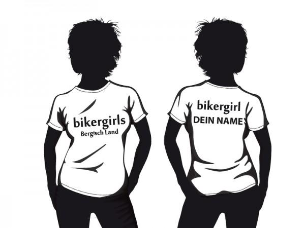 Personalisiertes Bikergirls Damen T-Shirt
