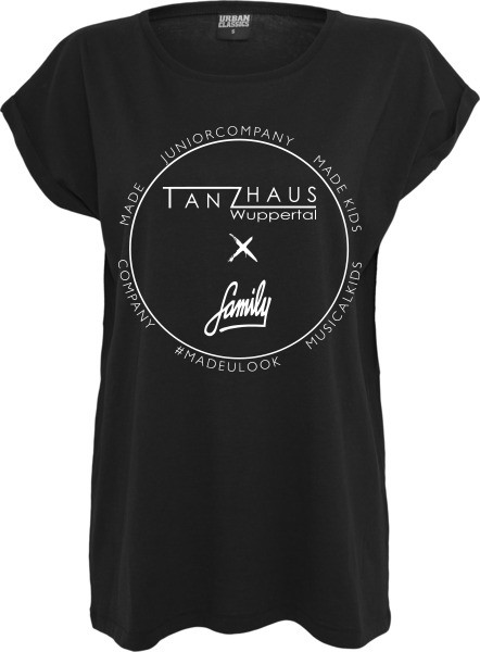 """TANZHAUS X FAMILY"" Ladies Extended Shoulder Tee"