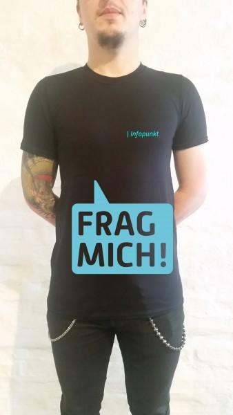 """""""Frag mich"""" T-Shirt Herren Schnitt"""